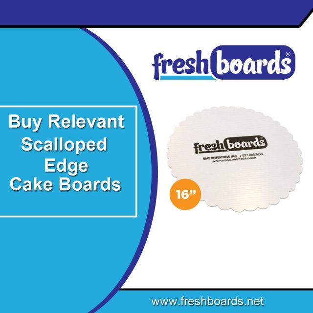 Scalloped Rectangular Cake Boards