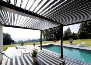 Pergolas with Louvered Roofs